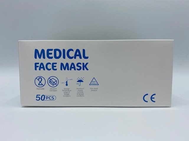 Mouth mask 3 layers for medical use EN 14683 Typ IIR