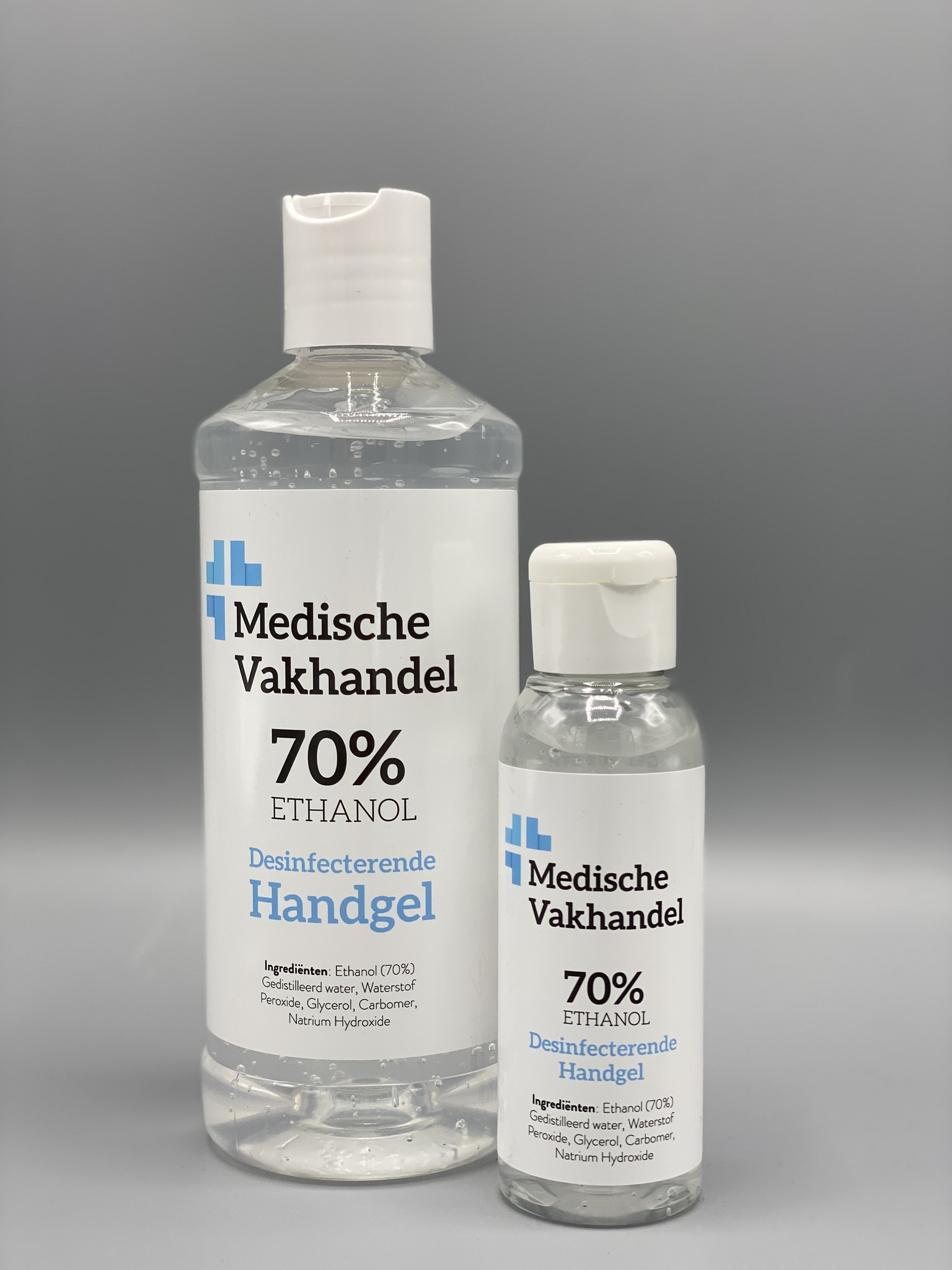 Medische Vakhandel Disinfectant hand gel 70% WHO prescription