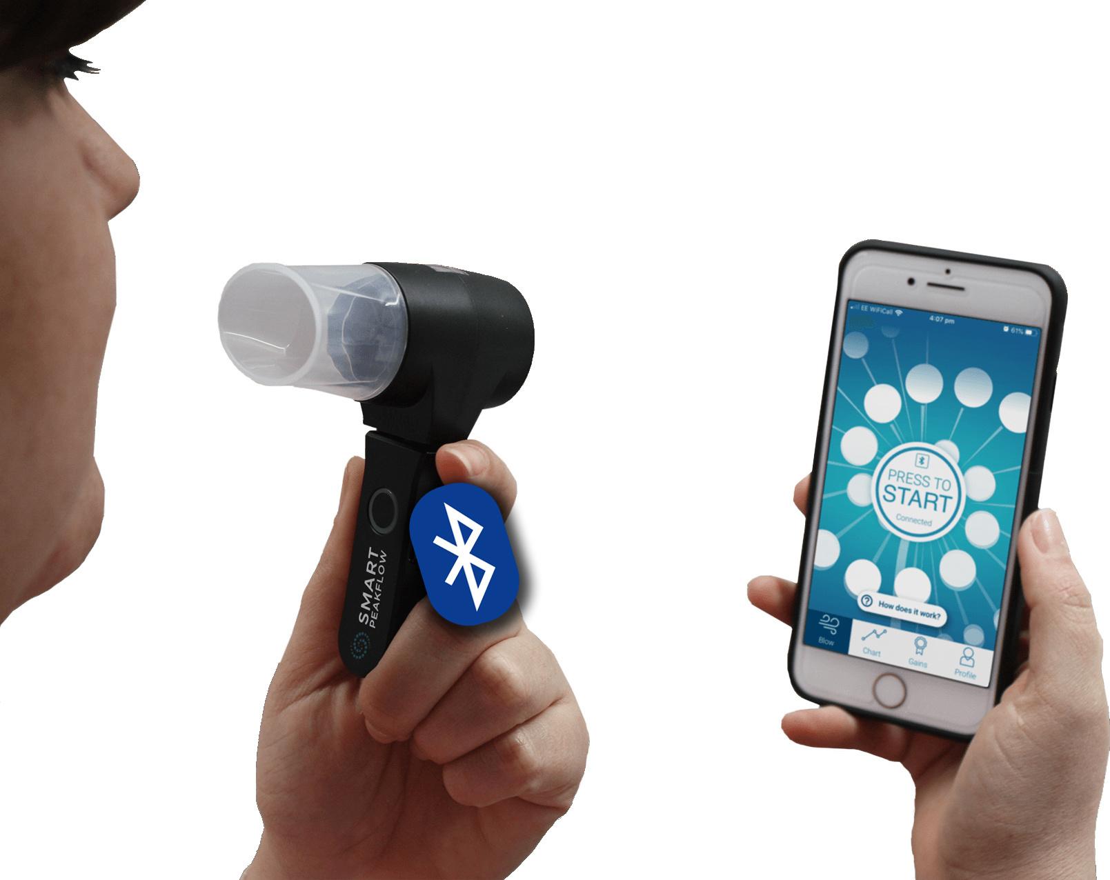 Smart Peak Flow Meter nu op uw smartphone voor uw astma