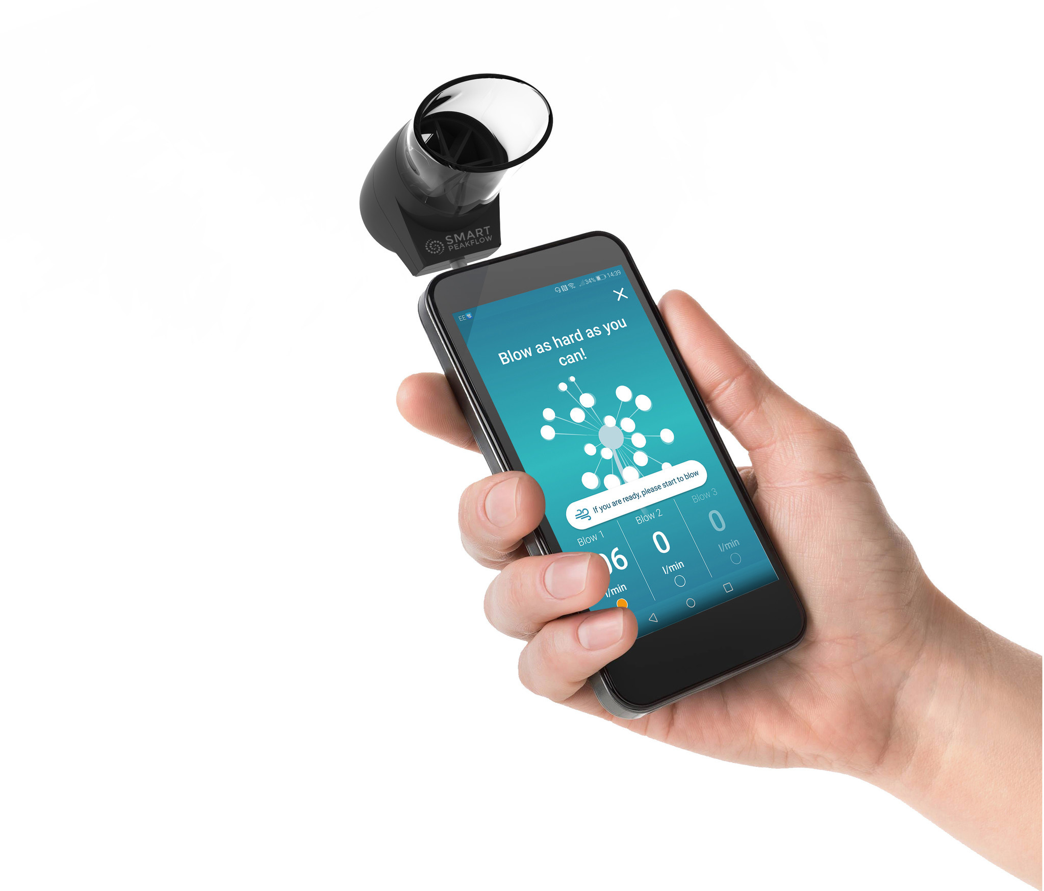 Smart Peak Flow Meter now on your smartphone for your asthma
