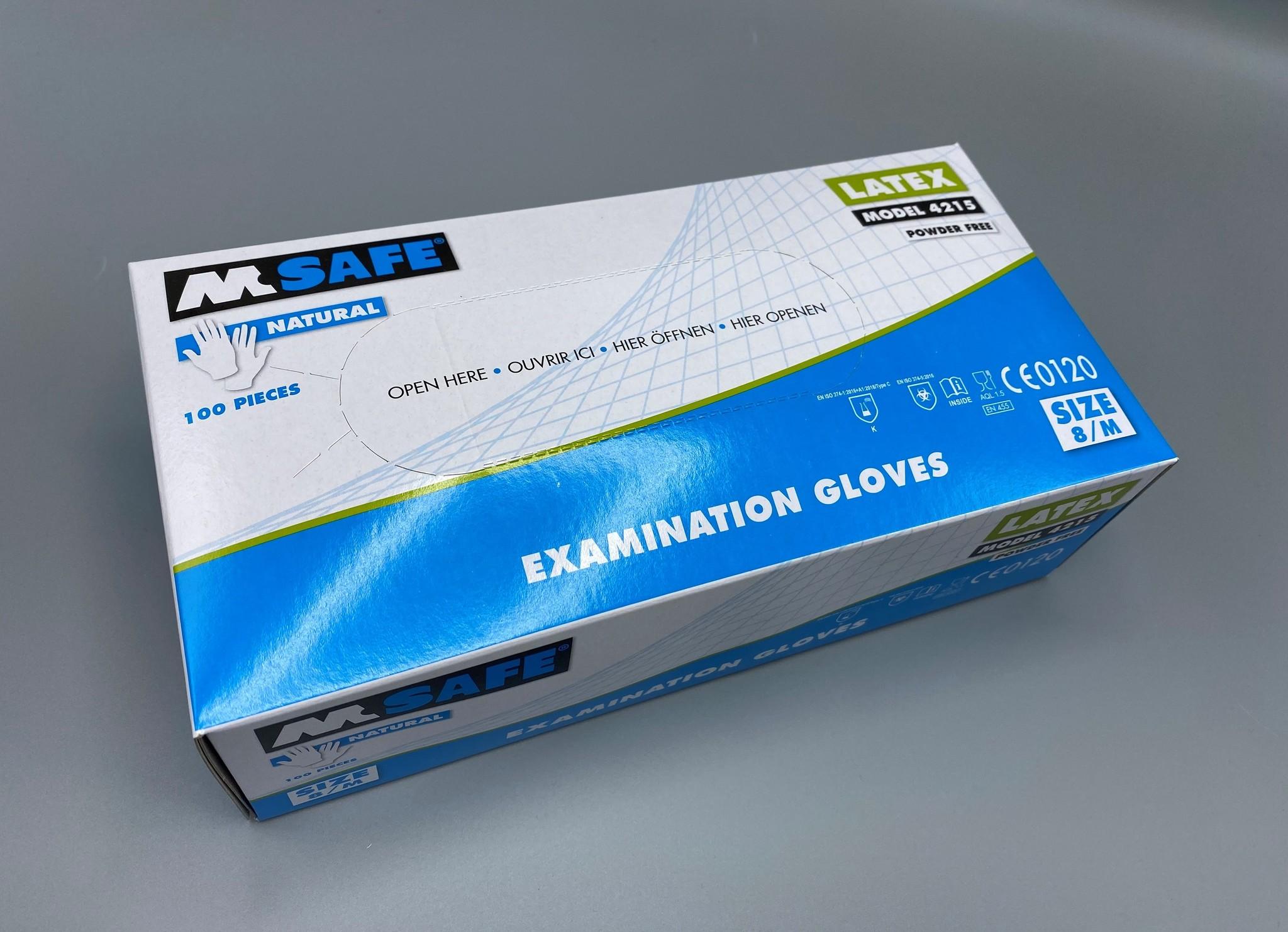 M-Safe Latex medium gloves 100 pcs
