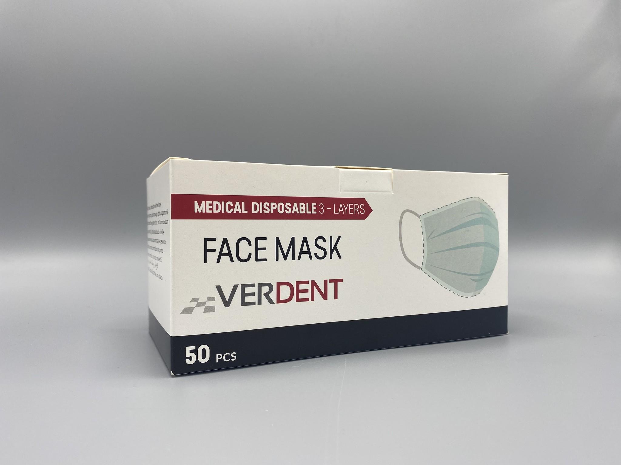 Surgical masks - Verdent - EN 14683 Type IIR