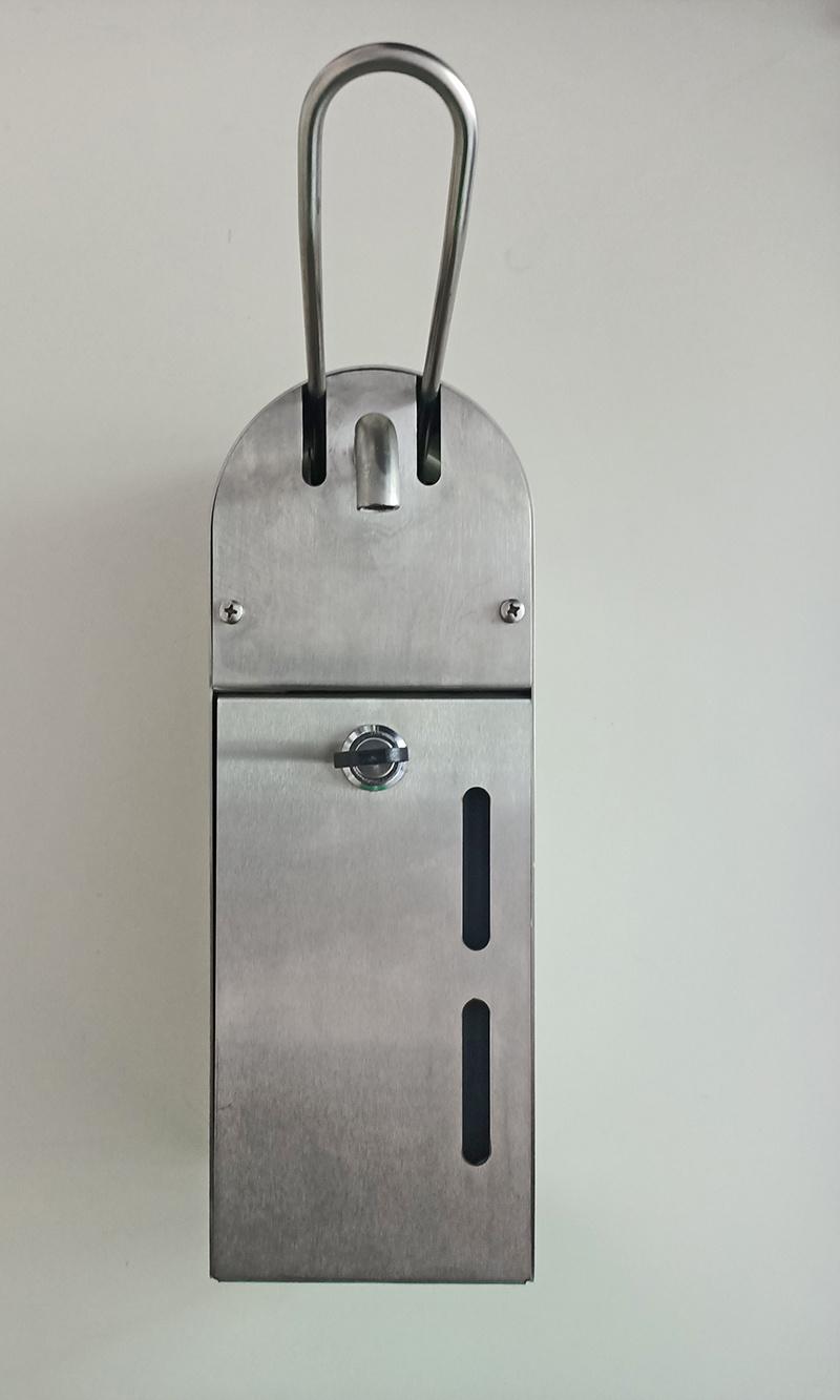 HUF desinfectiemiddeldispenser 1000ml wandbevestiging met slotbeveiliging