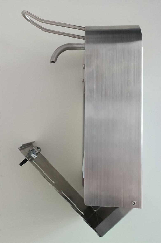 HUF Desinfektionsmittelspender 1000ml Wandhalterung mit Schlossschutz