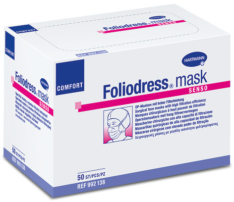 Foliodress Maske Comfort Senso - grün - Typ II - 50 Stück