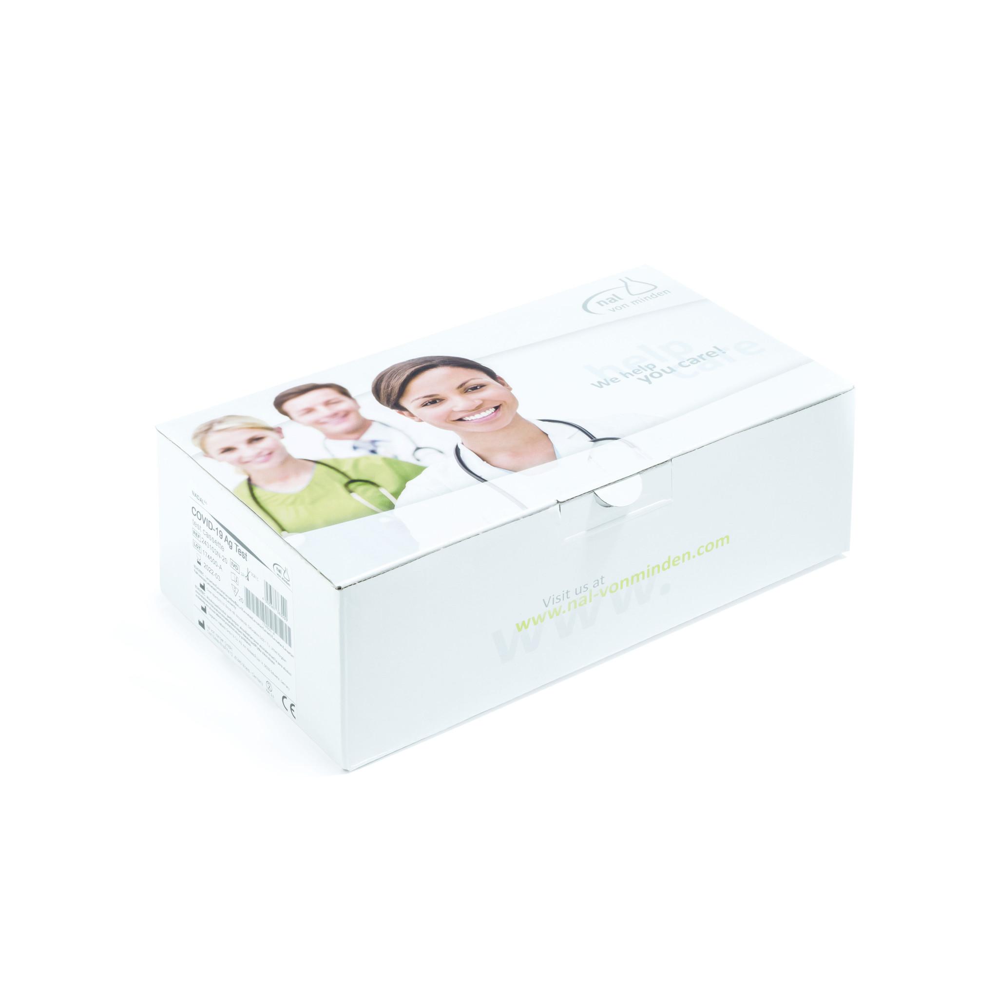 NADAL® COVID-19 Antigen Rapid Test, 20 Corona tests, nose throat Swab