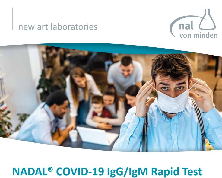 NADAL® COVID-19 IgG / IgM Test - 10 Corona Test Cassettes