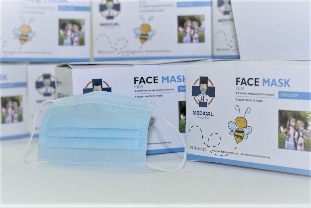 Mondmaskers  Kids Mask kindermaskers  3 laags 50 stuks
