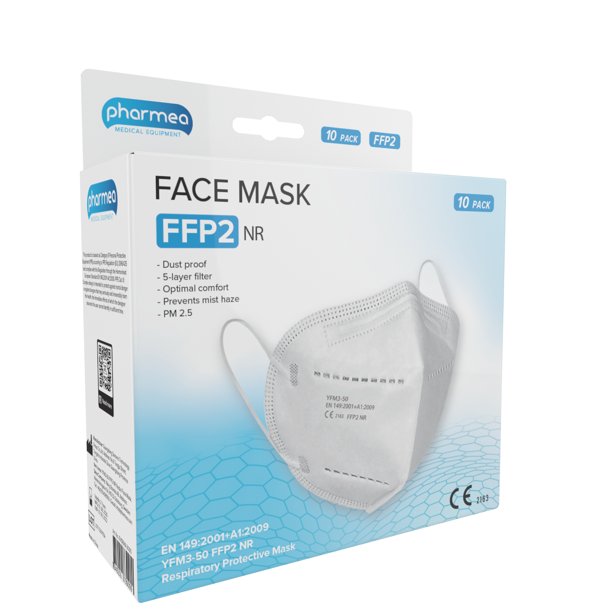 Pharmea Facemask FFP2 Mondmaskers 10 stuks