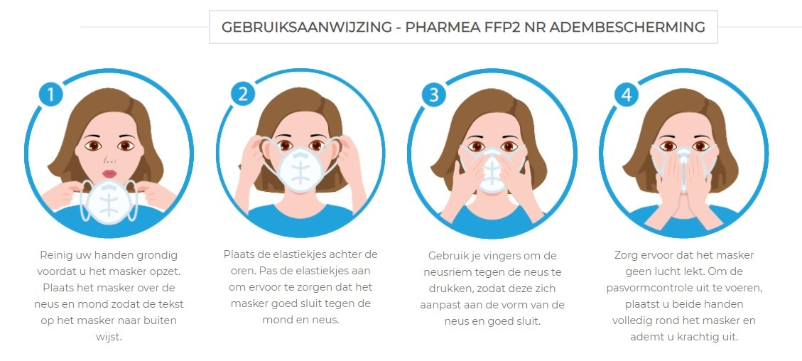 Facemask FFP2 Mouth masks 10 pieces
