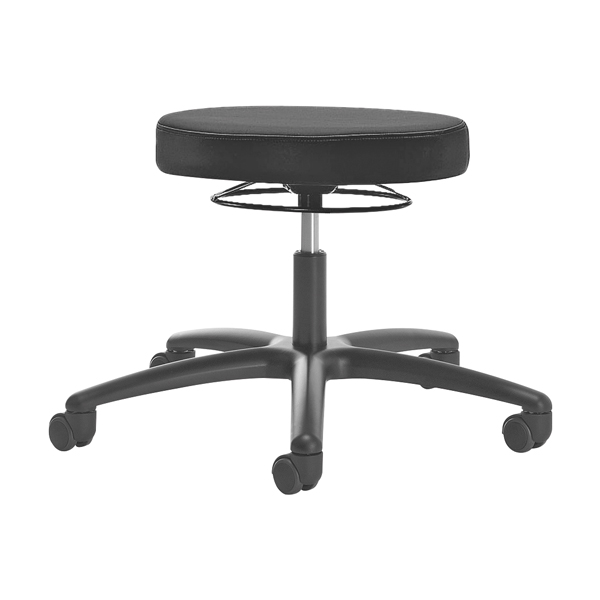 Luxury laboratory and practice stool - With soft wheels for hard floors