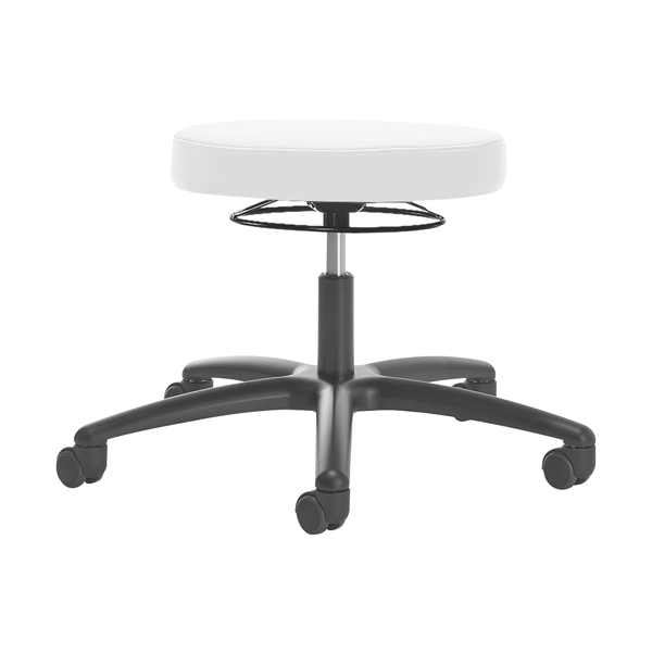 Luxury laboratory and practice stool - With hard wheels for soft floors