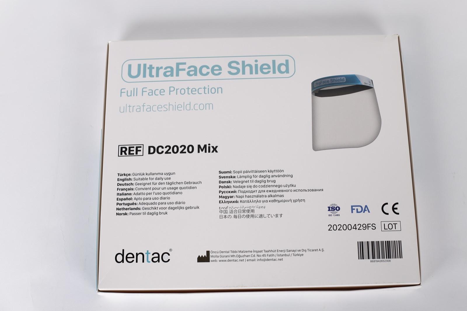 Ultraface FaceShield / Gelaatsmasker / Face Shield / Spatmasker