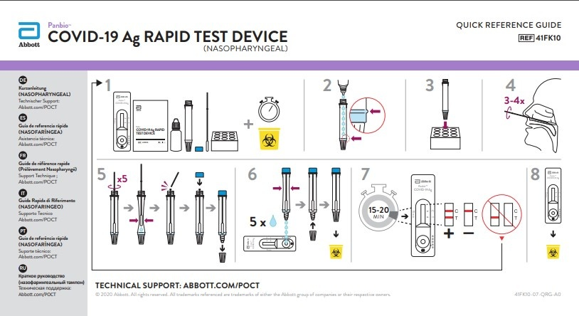 Abbott panbio ™ COVID-19 rapid test, Corona-Antigen test, nose swab