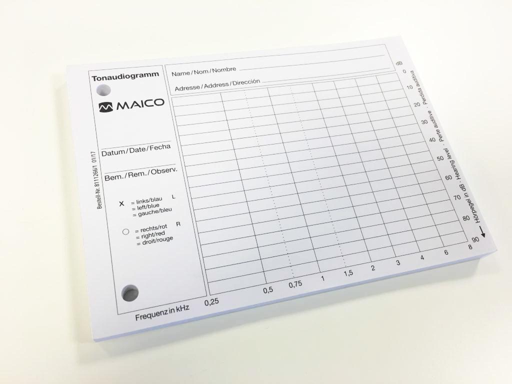 Audiogramm Papier Maico ST-20 ST-10