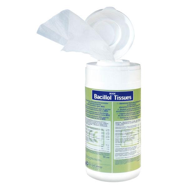 Bacillol® Tissues oppervlaktereiniging voor uw praktijk, stethoscopen, onderzoeksbanken, buro etc