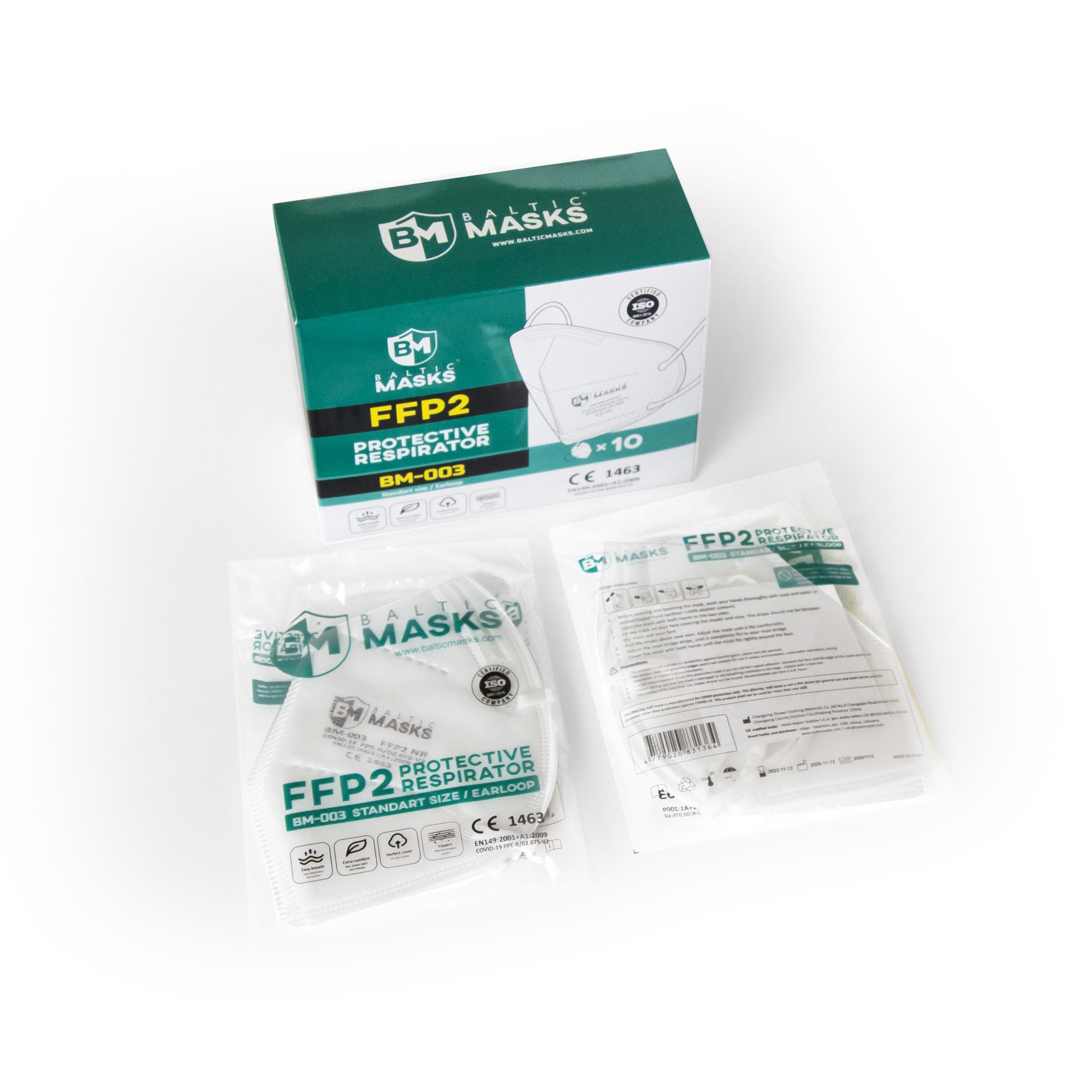 Baltic Masks FFP2 Mondmaskers / Mondkapjes - 10 stuks