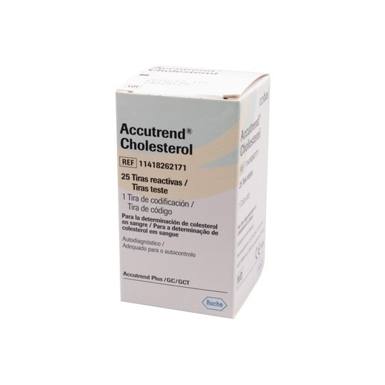 Accutrend Cholesterol test strips 25 pieces