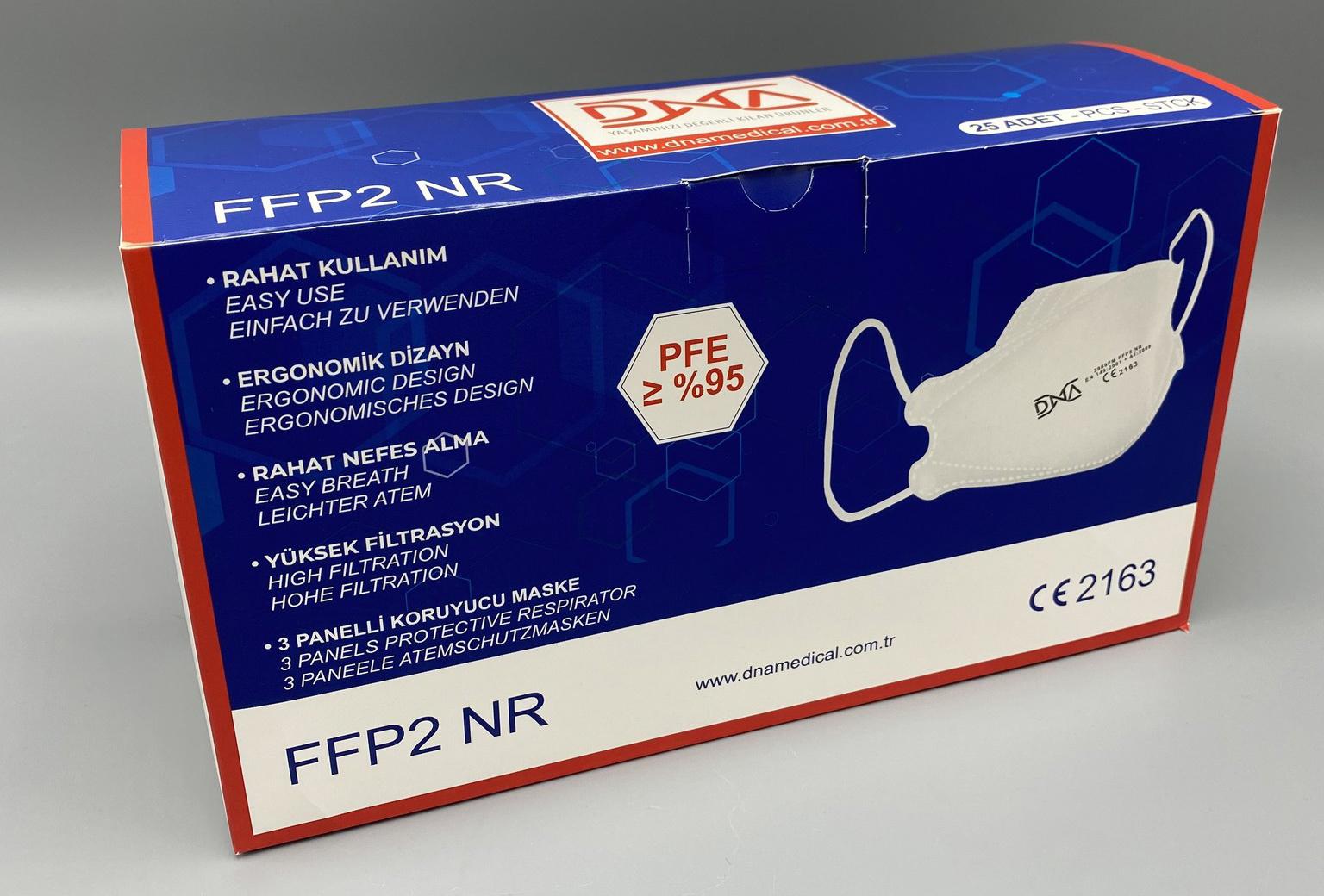 DNA FFP2 Mondmasker 25 stuks