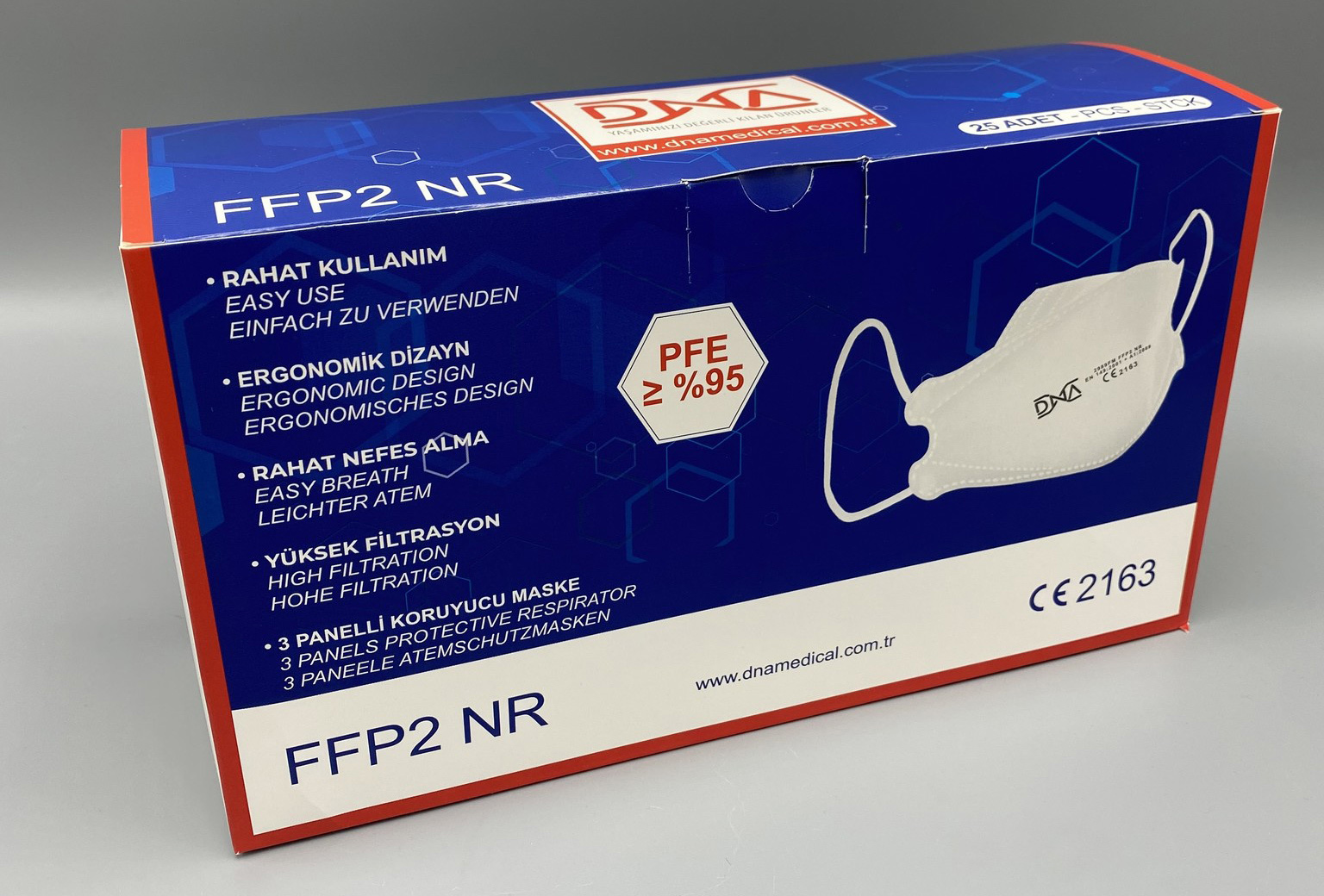 DNA FFP2 Mondmasker / Mondkapjes - 25 stuks