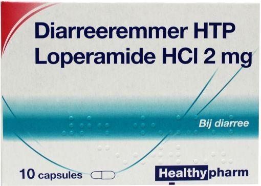Loperamide 2 mg diarreeremmer 10 stuks