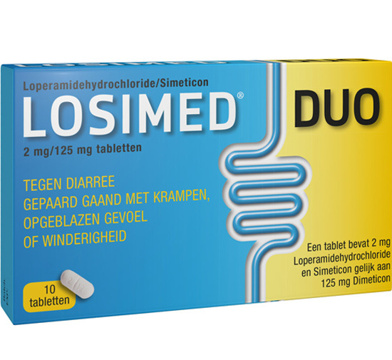 Losimed Losimed duo 2 mg / 125 mg 10 stuks