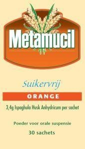 Metamucil Orange suikervrij 30 sachets