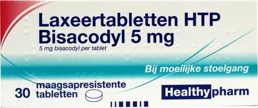 Bisacodyl 5mg Laxative tablets Healthyparm 30 tablets