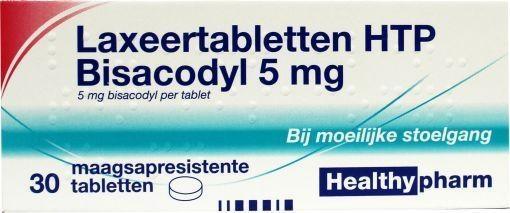 Bisacodyl 5mg Laxeertabletten Healthyparm 30 tabletten