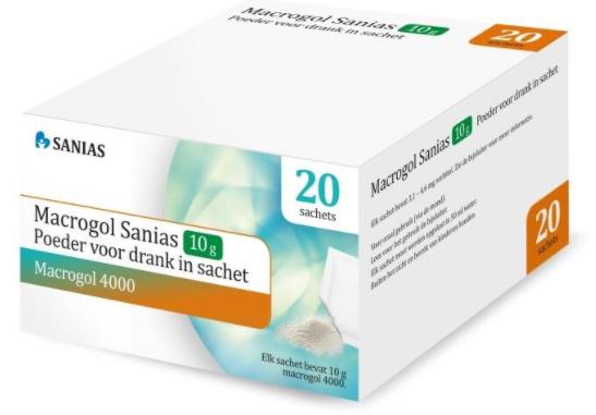 Macrogol powder Sanis 20 pcs