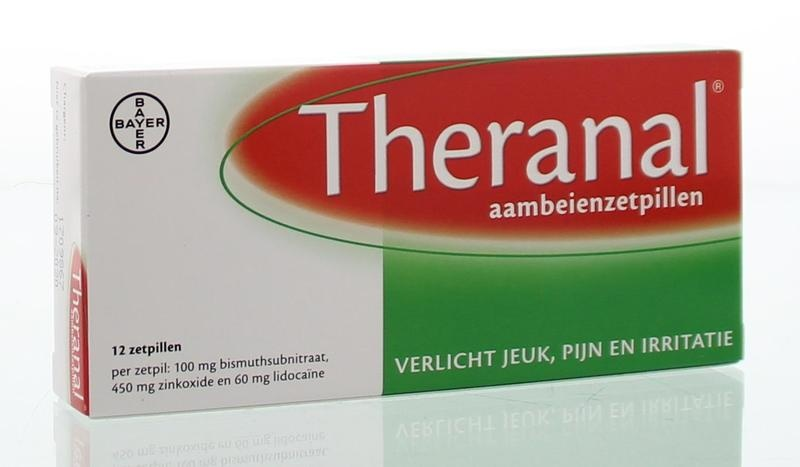 Theranal Hemorrhoids 12 suppositories