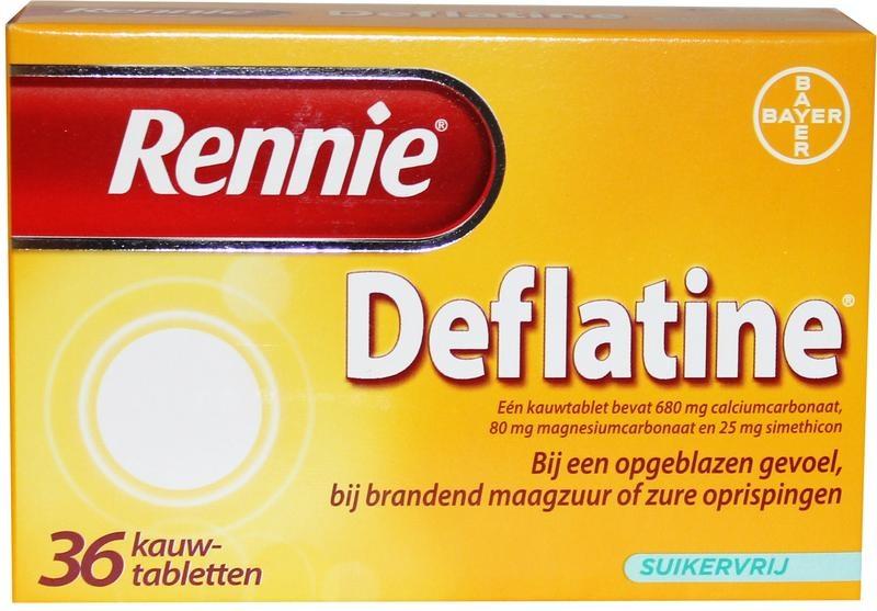 Rennie deflatine 36 tabletten