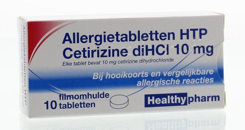 Cetirizine 10 mg - 10 tabletten