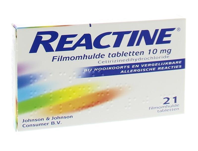 Reactine Anti histamine 10 mg - 21 tabletten