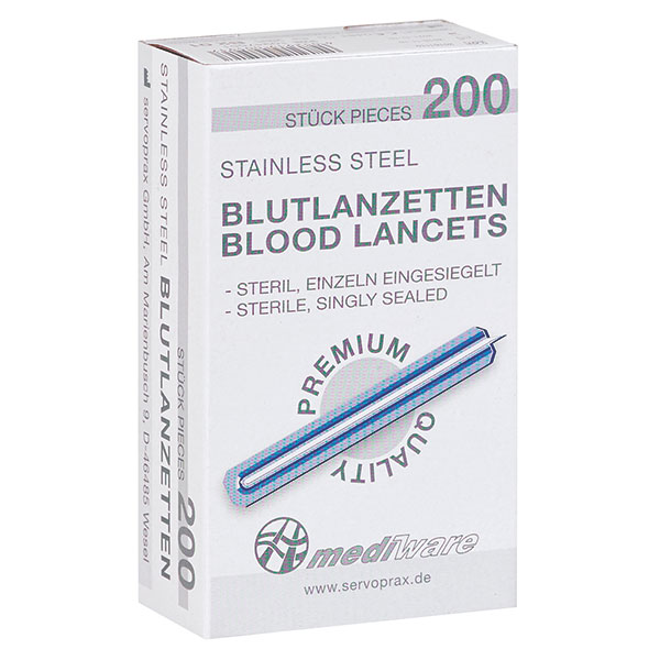 Bloedlancetten Mediware 200 stuks