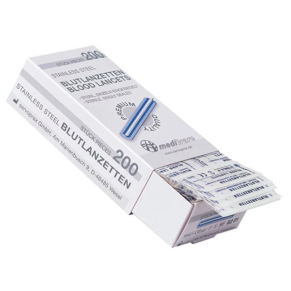 Mediware blood lancets, 200 pieces