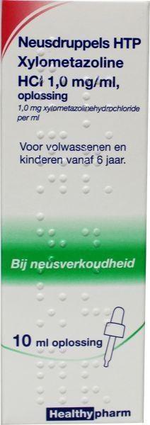 Neusdruppels Xylometazoline HCl 1 mg/ml Healthypharm - 10 ml