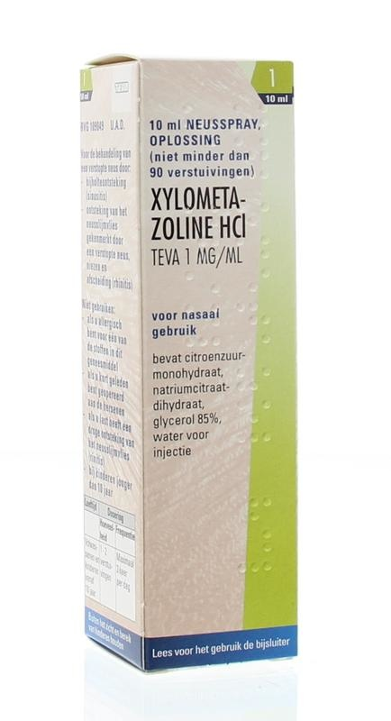 Xylometazoline 1 mg spray Teva - 10 ml