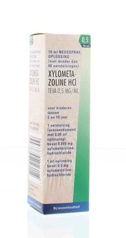 Xylometazoline 0.5 mg kinderneusspray Teva - 10 ml