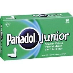 Panadol junior 250 mg - 10 zetpillen