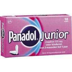 Panadol junior 125 mg - 10 suppositories