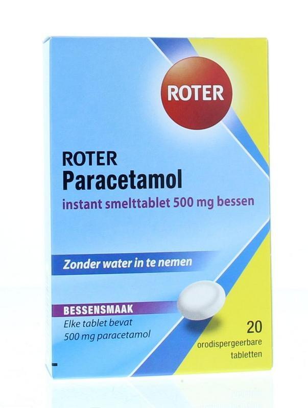 Paracetamol 500 mg bessen Roter - 20 tabletten