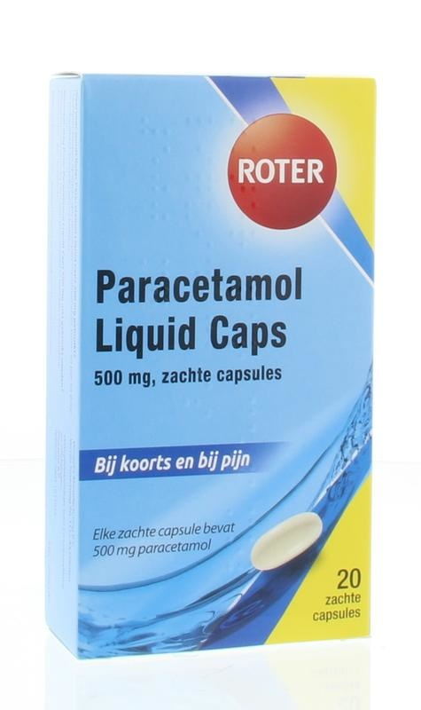 Paracetamol 500 mg Roter - 20 zachte capsules