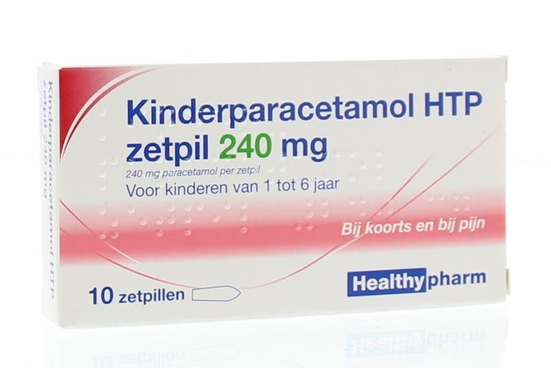 Paracetamol kinderen 240 mg Healthypharm - 10 zetpillen