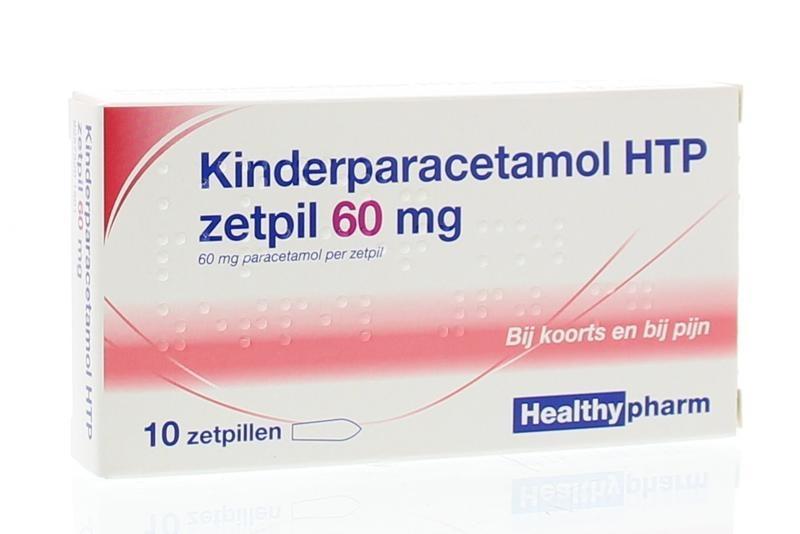 Paracetamol Kind 60 mg Healthypharm - 10 Zäpfchen