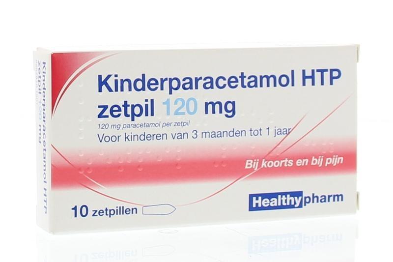 Paracetamol kind 120 mg Healthypharm - 10 zetpillen