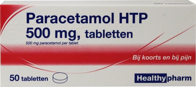 Paracetamol 500 mg Healthypharm - 50 tabletten
