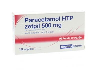 Paracetamol 500 mg Healthypharm - 10 zetpillen