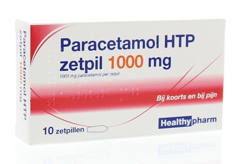 Paracetamol 1000 mg Healthypharm - 10 suppositories