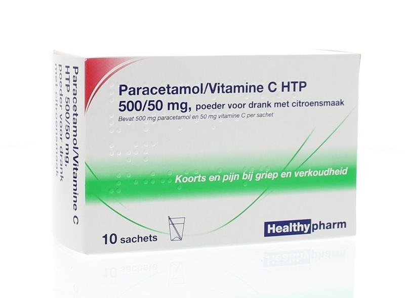 Paracetamol & vit C Healthypharm - 10 sachets